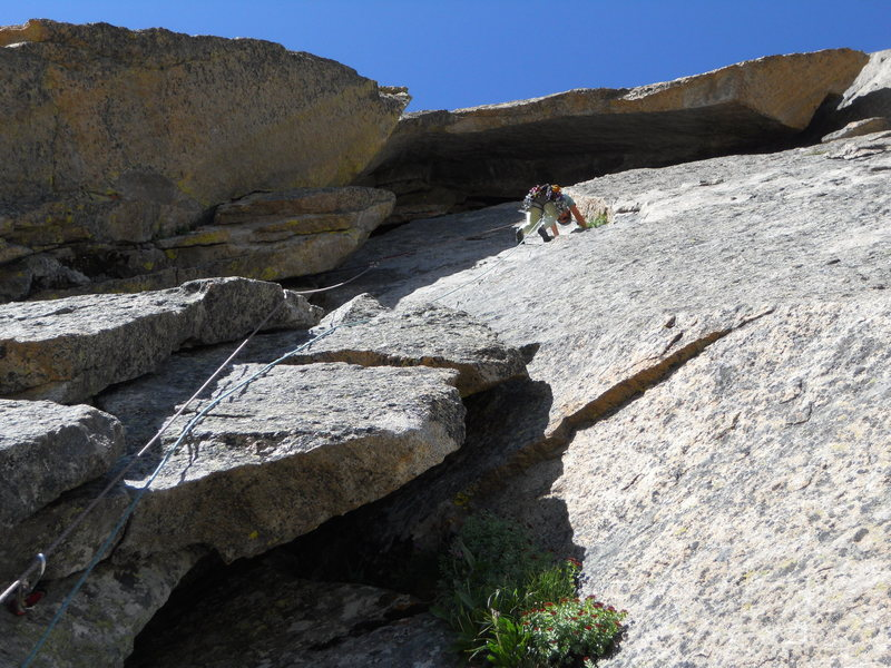 Rock Climbing Photo: leading the pitch into the sickle...I know its a b...