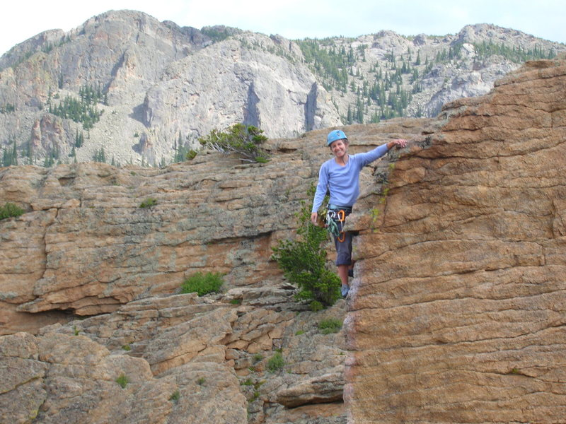 Rock Climbing Photo: trying to look dramatic at the top of end of time ...