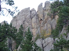 Rock Climbing Photo: The Main Wall with PodnMe being the splitter just ...
