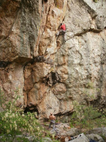 Rock Climbing Photo: EFR on the FA.