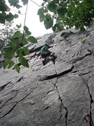 Rock Climbing Photo: Matt Kuehl leads the Lost Face Finger Crack