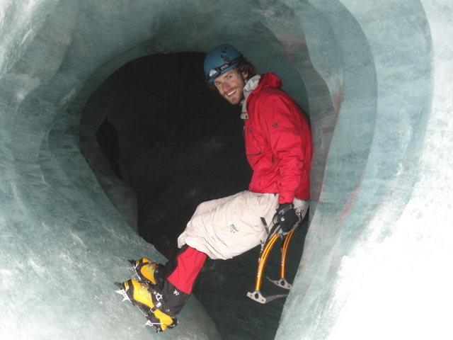 Inside Gulkana Glacier, Delta Range, Alaska - Summer 2010