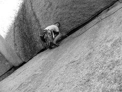 Rock Climbing Photo: Ben completing the second pitch