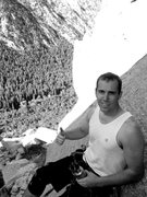 Rock Climbing Photo: Chilling after leading both pitches.  This is one ...
