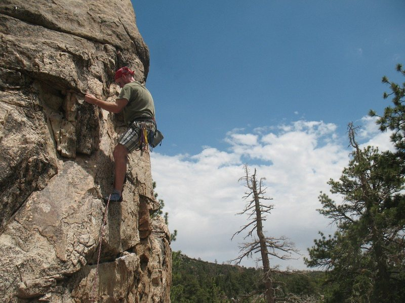 Rock Climbing Photo: Wildrose (5.6), Holcomb Valley Pinnacles
