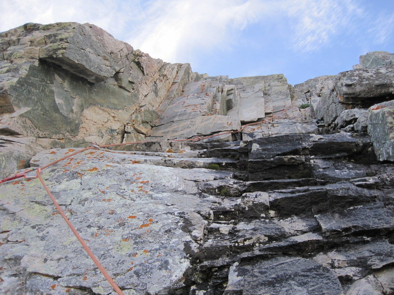 Rock Climbing Photo: Looking into the wet, lower part of the second pit...