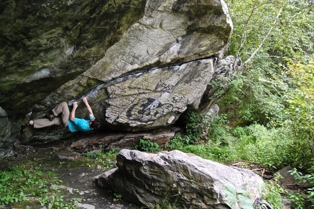 Rock Climbing Photo: Trying a different sequence on the start of PCT fo...