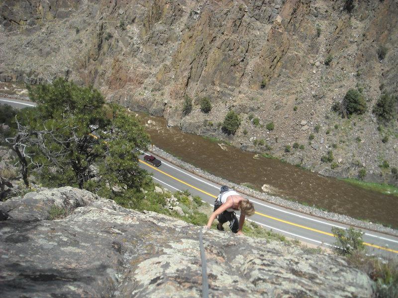 Rock Climbing Photo: 2nd pitch of pancho's.