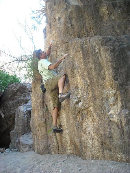 Rock Climbing Photo: soft landings in the shade in fish creek Al on Bea...