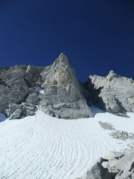 Rock Climbing Photo: final snow field