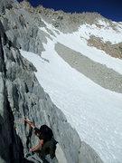 Rock Climbing Photo: Jascha following up the first pitch