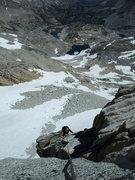 Rock Climbing Photo: Jascha approaching the P3 (P2 in Supertopo) belay