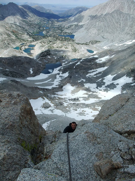Rock Climbing Photo: Jascha about to top out on P6 (P5 on Supertopo)