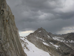 Rock Climbing Photo: Stormy skies over BCS and Dade.  Time for us to ba...