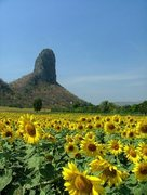 Rock Climbing Photo: View of Khao Chin Lae 2, near Lopburi, Thailand