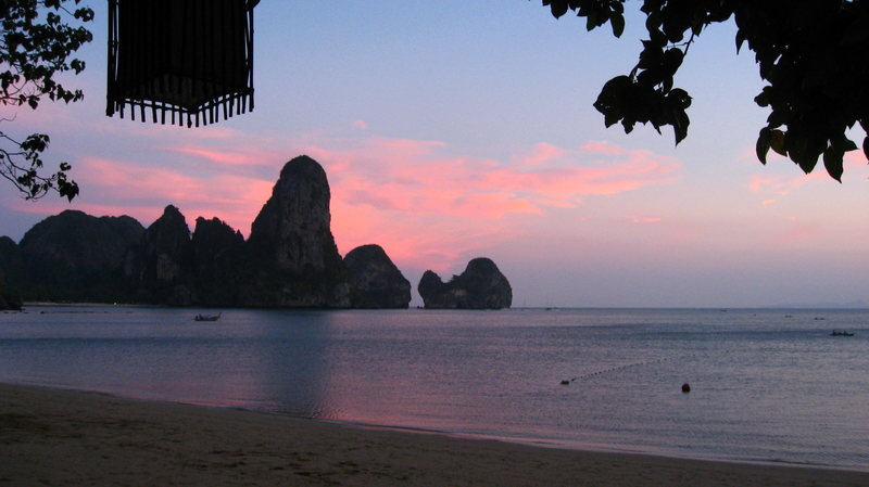 The Thaiwand at sunset