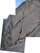 Rock Climbing Photo: 1. Left Offwidth, 5.7 2. Prime Real Estate Crack, ...
