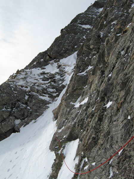 Aaron leading P2, direct variation to Mt.Bancroft East Ridge