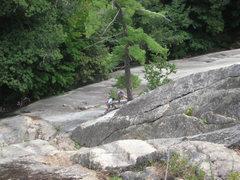 Rock Climbing Photo: Scott on the first pitch belay