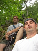 Rock Climbing Photo: My brother Scott and me on beginners easy his firs...