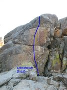 Rock Climbing Photo: Crematorium (5.12d), Holcomb Valley Pinnacles