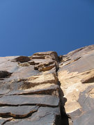 Rock Climbing Photo: Upper part of pitch 1