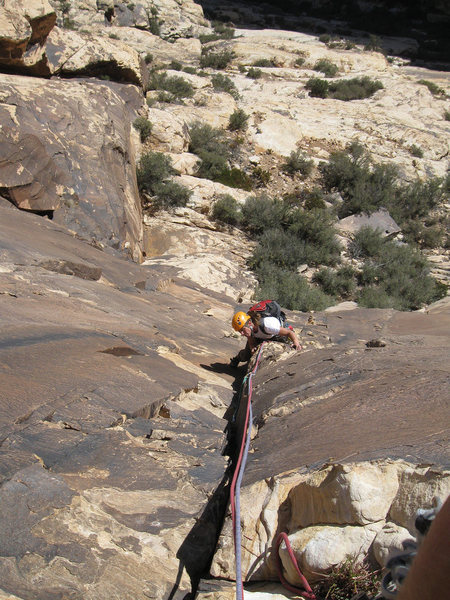 Rock Climbing Photo: Following Pitch 1