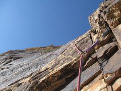 Rock Climbing Photo: Following Pitch 2