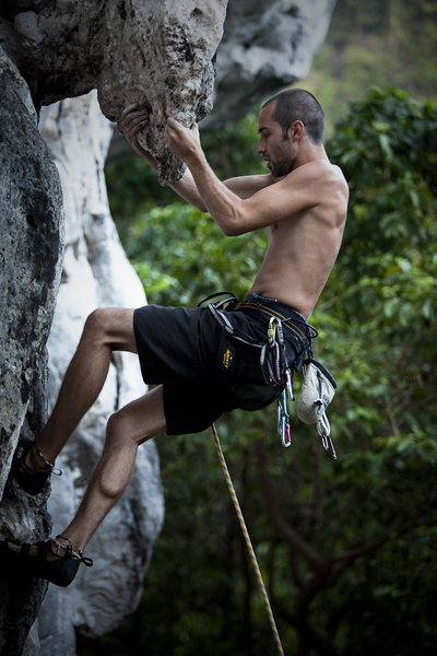 Rock Climbing Photo: Ryan on Osapft Is.  Photo: Inge Helland