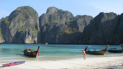 Rock Climbing Photo: Maya Bay on Phi Phi Leh