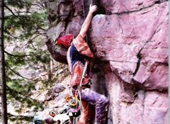 Rock Climbing Photo: Drug influenced ascent on Peters Project.