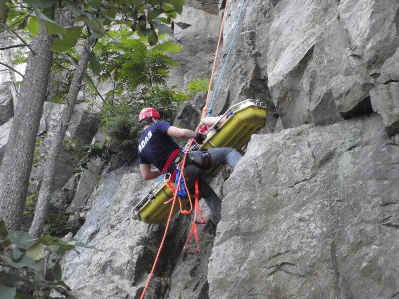 Rock Climbing Photo: Justin Carted up