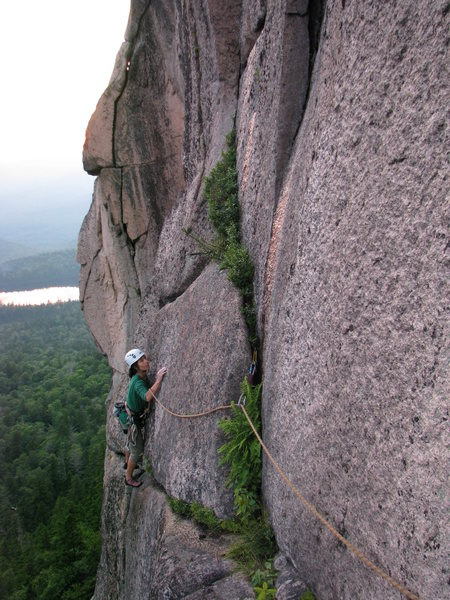 Rock Climbing Photo: Olga balancing across the no hands section of the ...