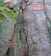 Rock Climbing Photo: Route with notes