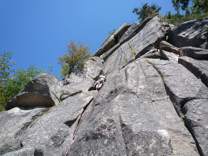 Rock Climbing Photo: My FA of Egg Cracker, a fun 5.10 on the Laughing O...