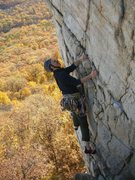 Rock Climbing Photo: The last good stance for a while on Le Teton. Phot...