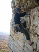 Rock Climbing Photo: End of the vertical crack, ready to start the pump...
