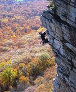 Rock Climbing Photo: After the crux, the climbing is a steep but easy j...