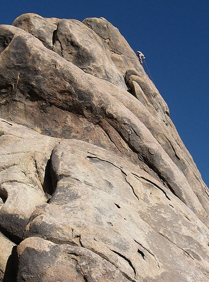 "Rock Climbing Photo: Steve Swan near the top of ""Eye for an Eye&qu..."