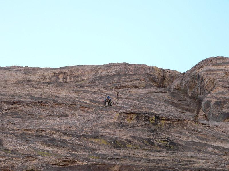 Rock Climbing Photo: Lee leading p. 4