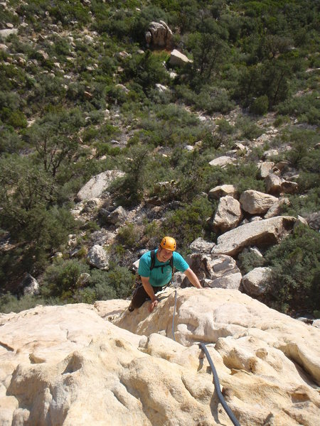 Ron Graham approaching the top of Pitch 1.
