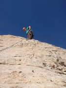 Rock Climbing Photo: Ron Graham on the easy second pitch.  It's almost ...