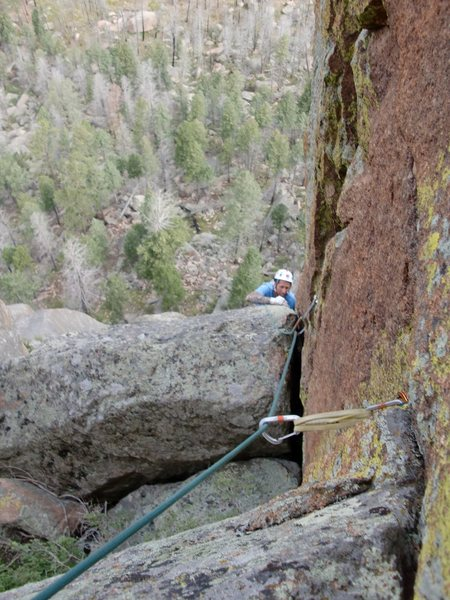 Rock Climbing Photo: Mike Keegan toping out on WildFire.