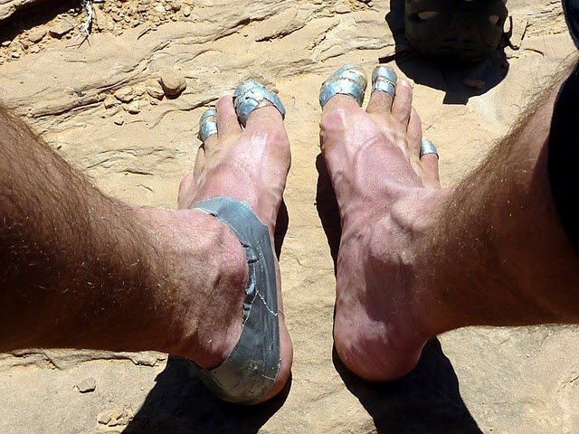Rock Climbing Photo: f****d feet