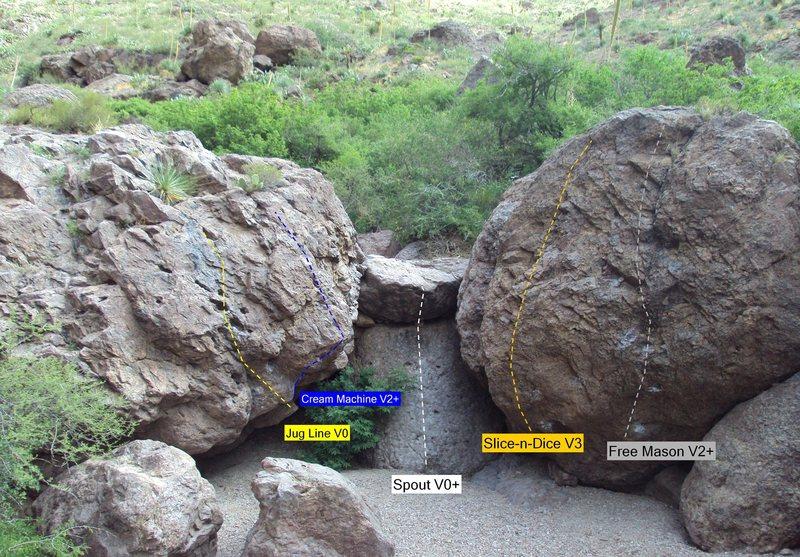 Rock Climbing Photo: Free Mason V2+