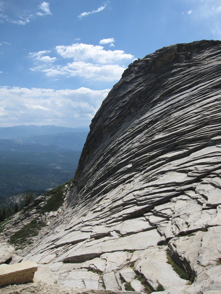 Rock Climbing Photo: The backside (north face) of High Eagle Dome from ...