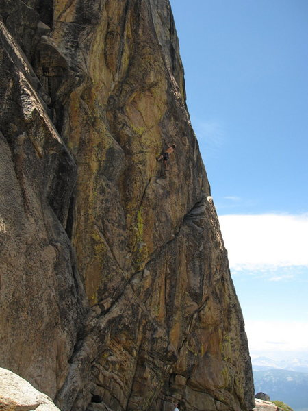 Rock Climbing Photo: T. Chrudinsky climbs on a 100 foot 5.10c on the so...