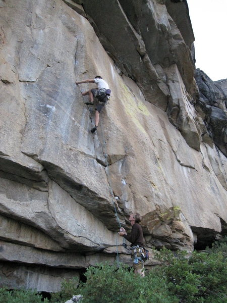 Rock Climbing Photo: Atmosphere on Aerie Dome. Outstanding.