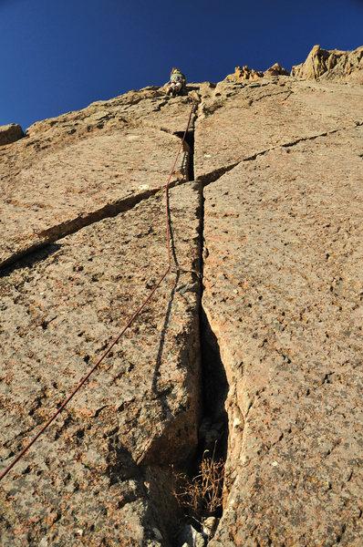 Rock Climbing Photo: Paul on the FA.