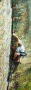 Rock Climbing Photo: Randall top roping Flaring Crack